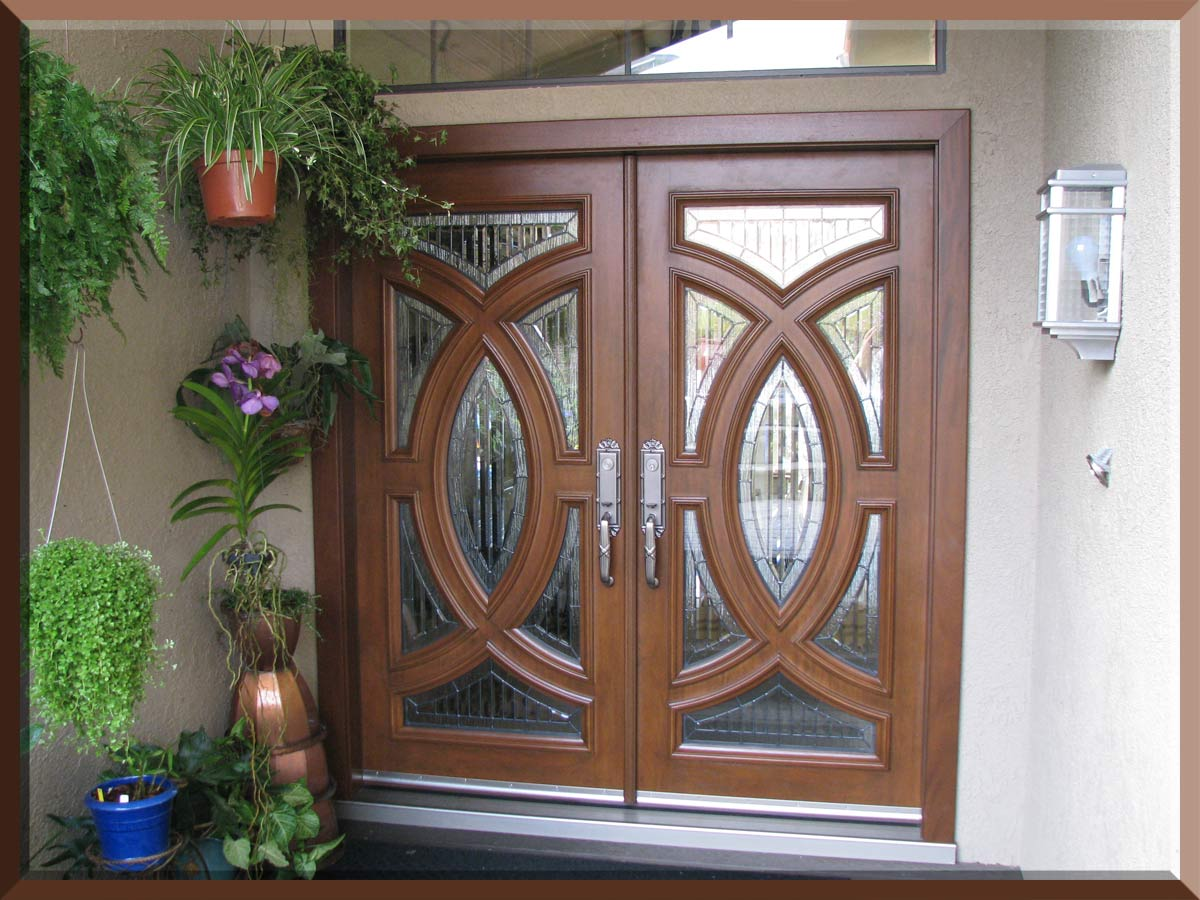 Home entrance door wooden entrance doors designs for Exterior double doors with glass