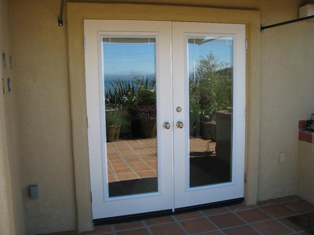 French door blinds shades blinds center for Outside door with window that opens