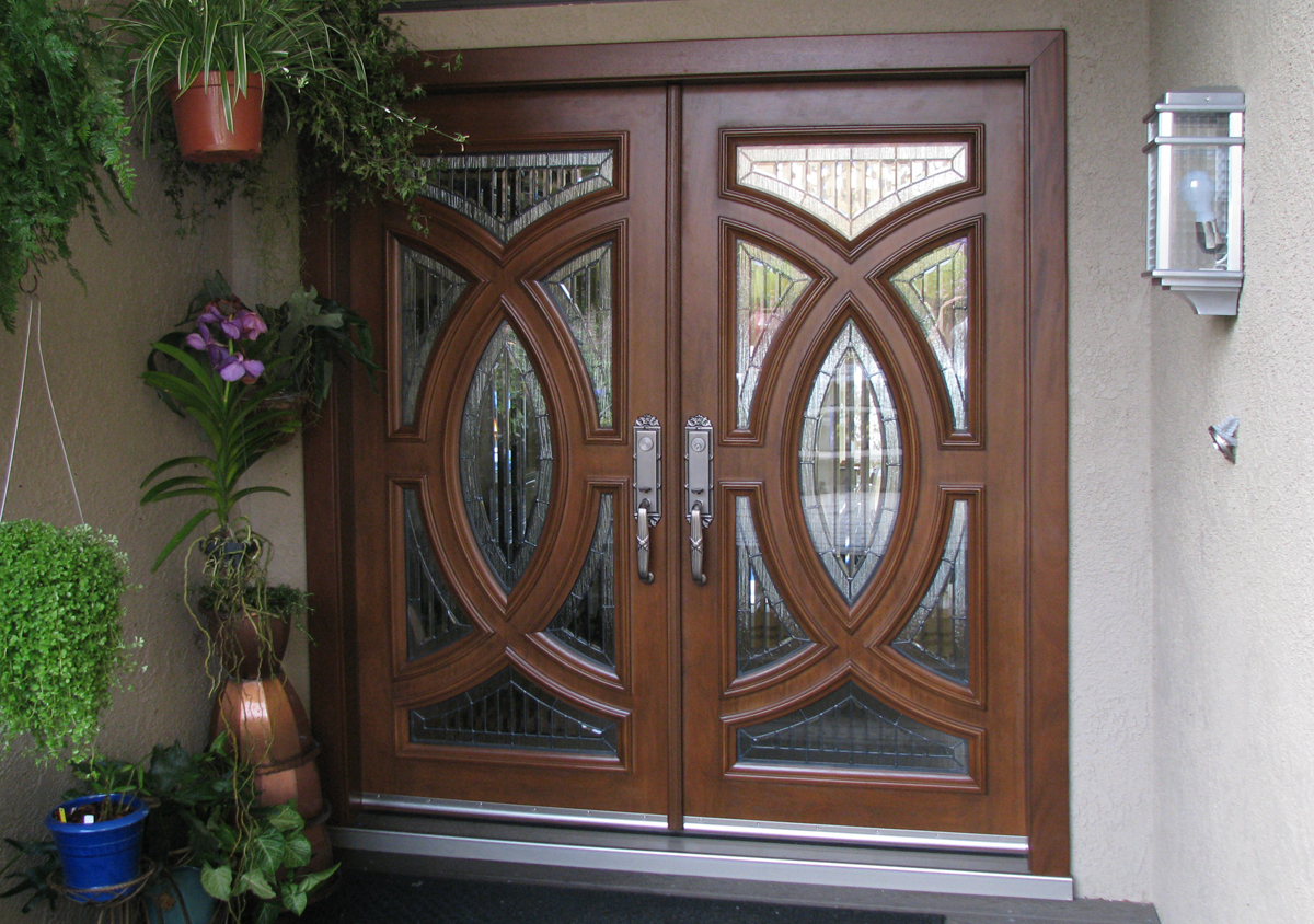 844 #446830  Stained Doors Here Are A Few Pictures Of The Doors That I Installed save image Fiberglass French Entry Doors 39271200